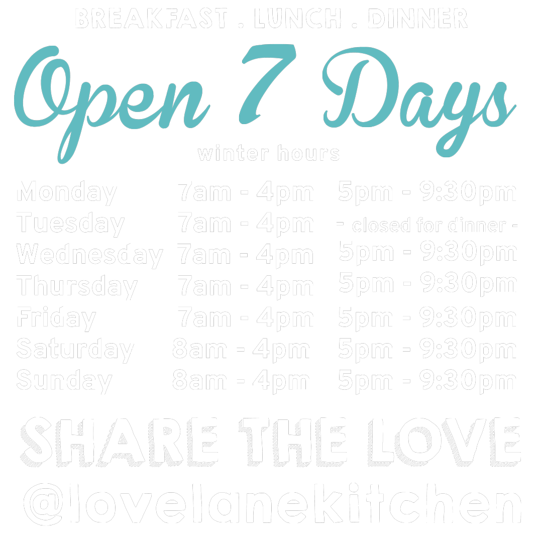 Love Lane Kitchen Summer Hours
